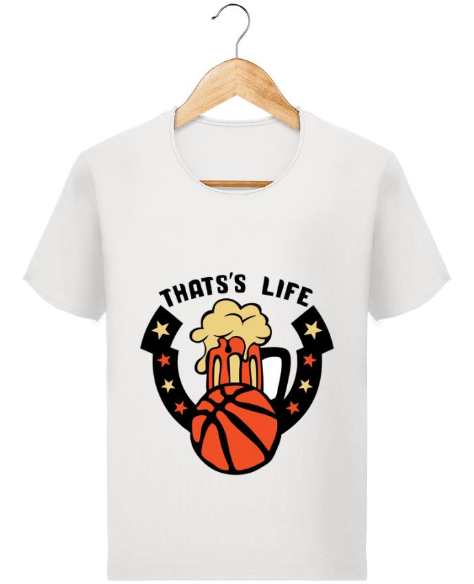T-shirt Homme Stanley Imagines Vintage basketball biere citation thats s life message par Achille