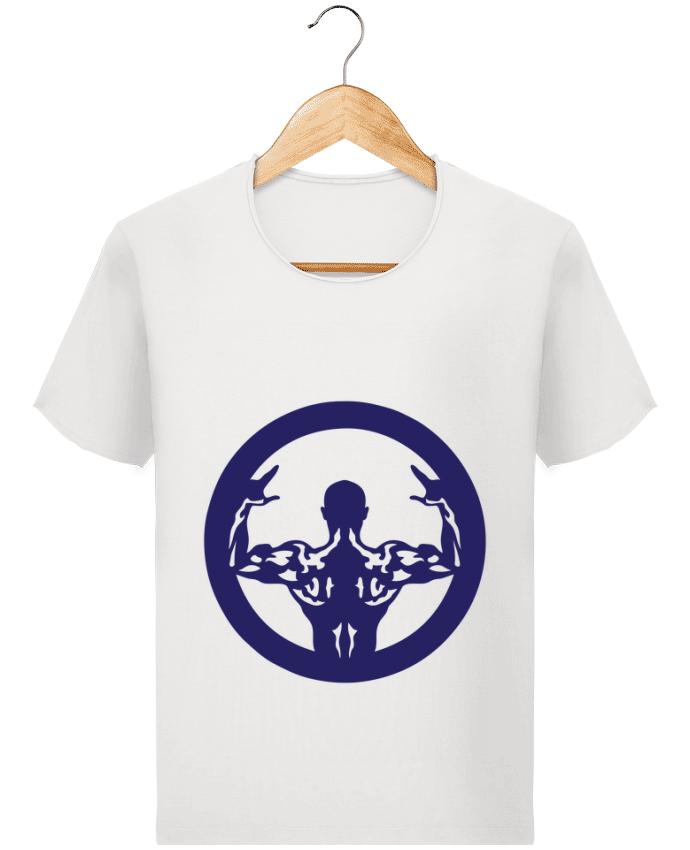 T-shirt Homme Stanley Imagines Vintage bodybuilding musculation logo biceps pose par Achille