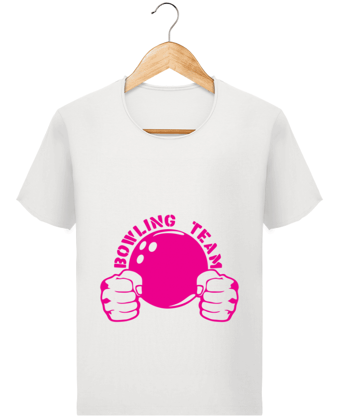 T-shirt Homme Stanley Imagines Vintage bowling team poing fermer logo club par Achille