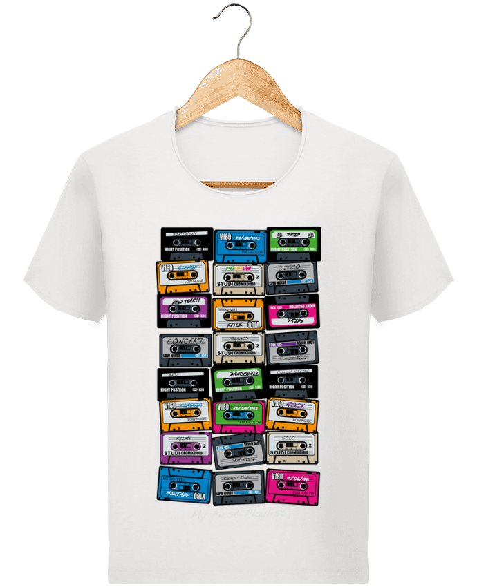 T-shirt Homme Stanley Imagines Vintage My First Playlist par PDT