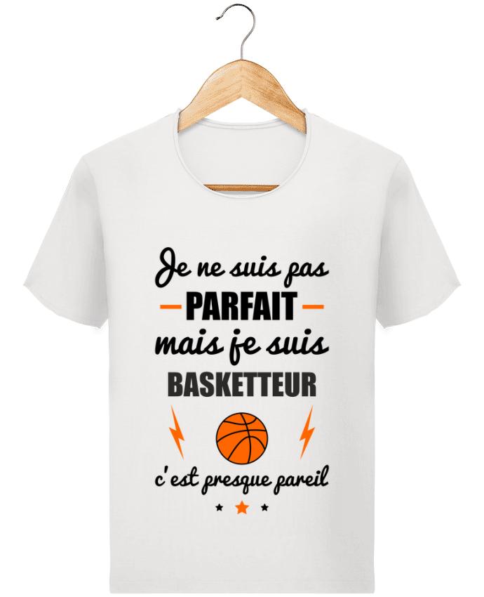 T-shirt Homme Stanley Imagines Vintage Je ne suis pas parfait mais je suis basketteur c'est presque pareil par Beni