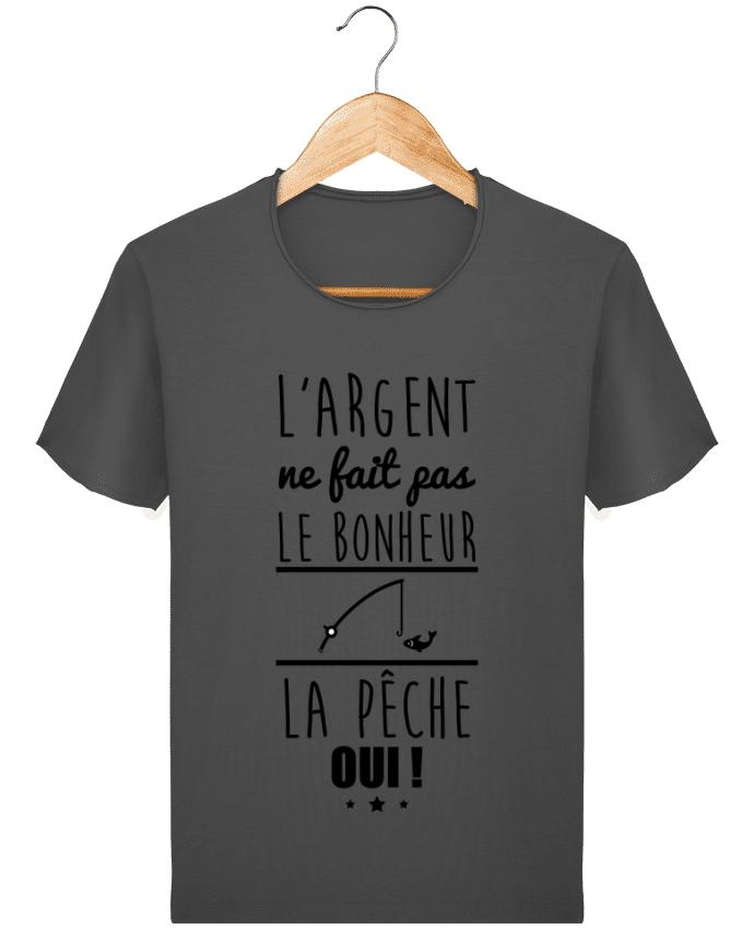 T-shirt Homme vintage L'argent ne fait pas le bonheur la pêche oui ! par Benichan