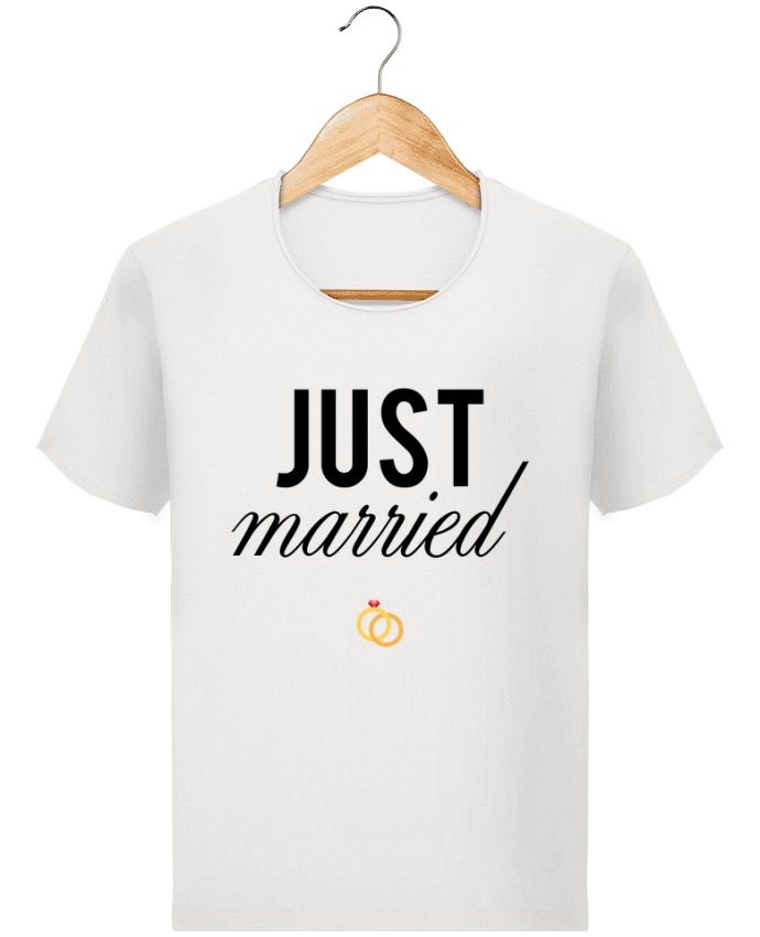 T-shirt Homme Stanley Imagines Vintage Just married par tunetoo