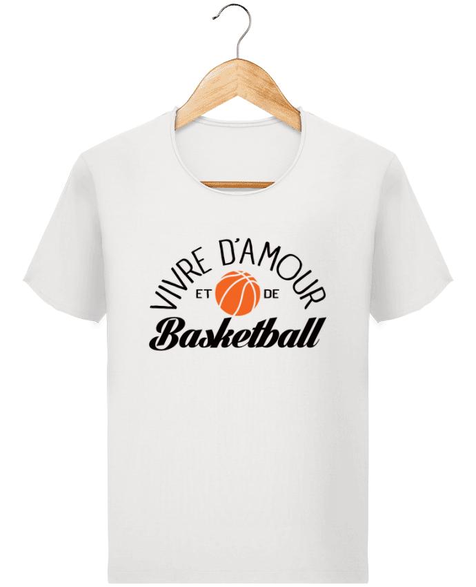 T-shirt Homme Stanley Imagines Vintage Vivre d'Amour et de Basketball par Freeyourshirt.com