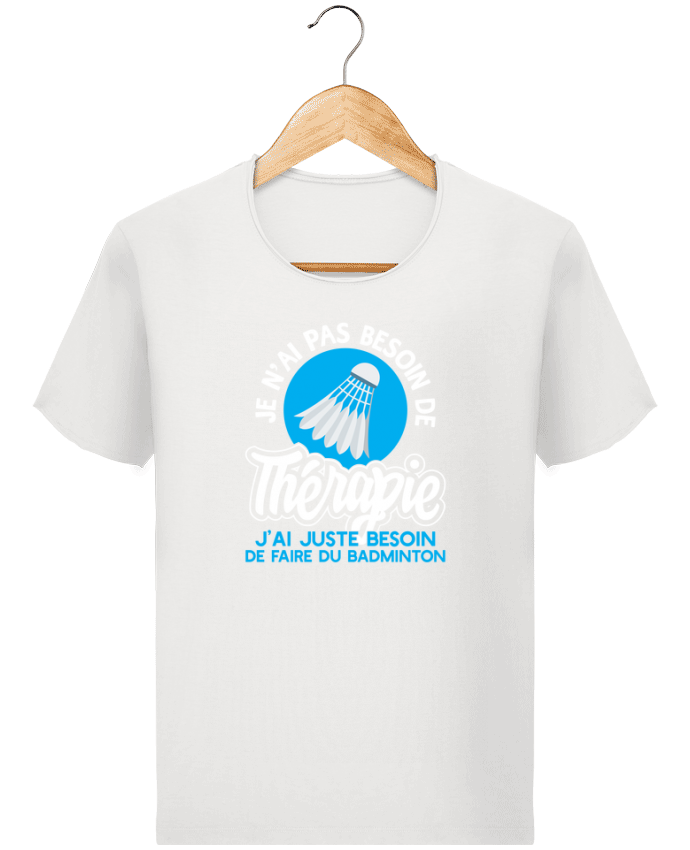 T-shirt Homme Stanley Imagines Vintage Thérapie badminton par Original t-shirt
