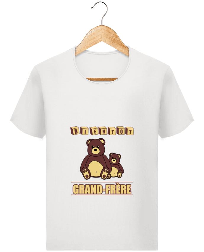 T-shirt Homme Stanley Imagines Vintage Bientôt Grand-Frère avec ours en peluche mignon par Benichan
