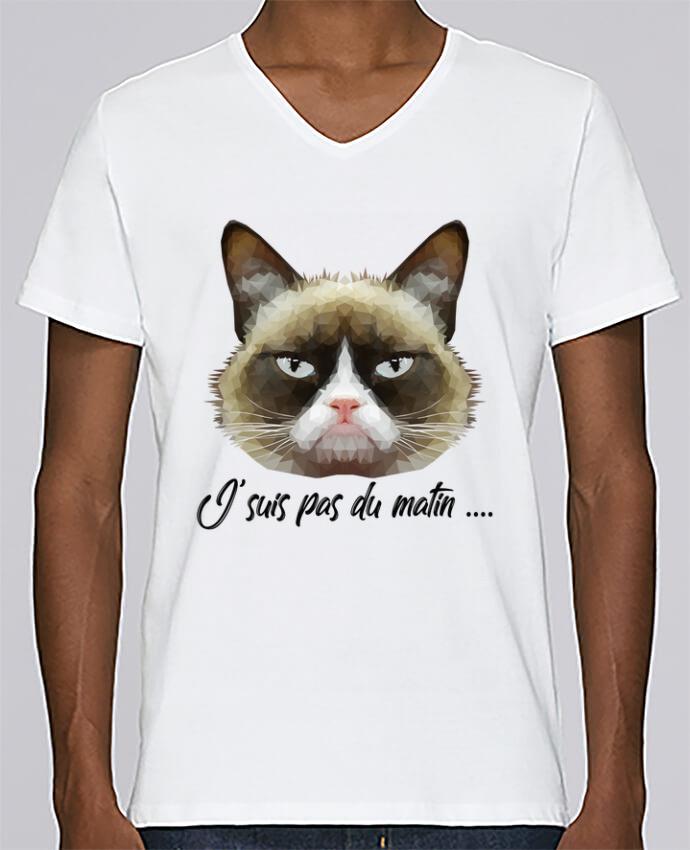 T-shirt Col V Homme Stanley Relaxes je suis pas du matin par DesignMe