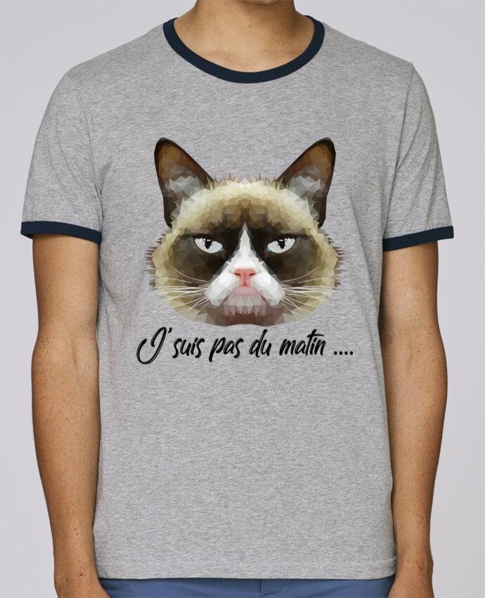 T-Shirt Ringer Contrasté Homme Stanley Holds je suis pas du matin pour femme par DesignMe