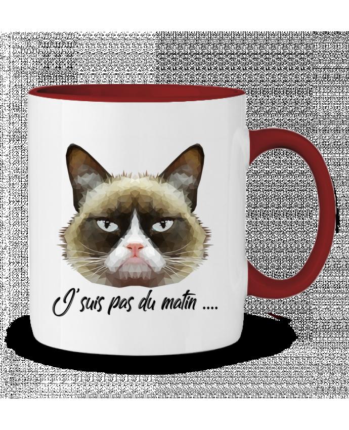 Mug en Céramique Bicolore je suis pas du matin DesignMe