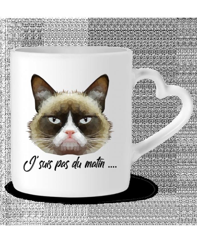 Mug Coeur je suis pas du matin par DesignMe
