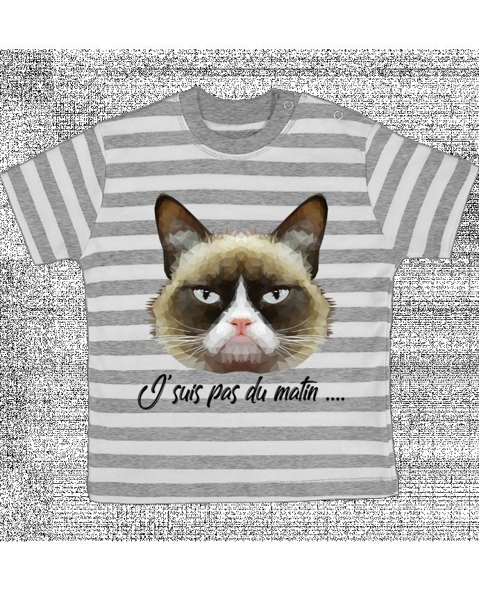 T-shirt Bébé à Rayures je suis pas du matin par DesignMe