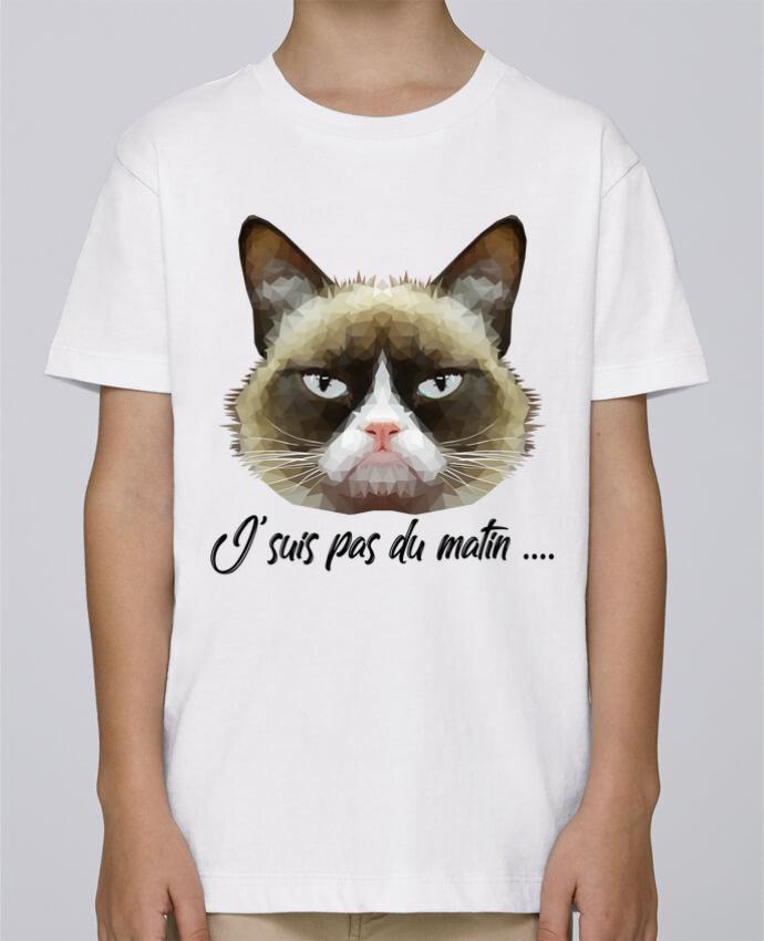 Tee Shirt Garçon Stanley Mini Paint je suis pas du matin par DesignMe