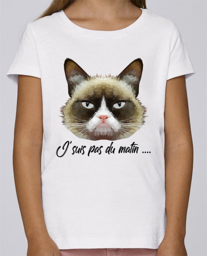 T-shirt Fille Mini Stella Draws je suis pas du matin par DesignMe
