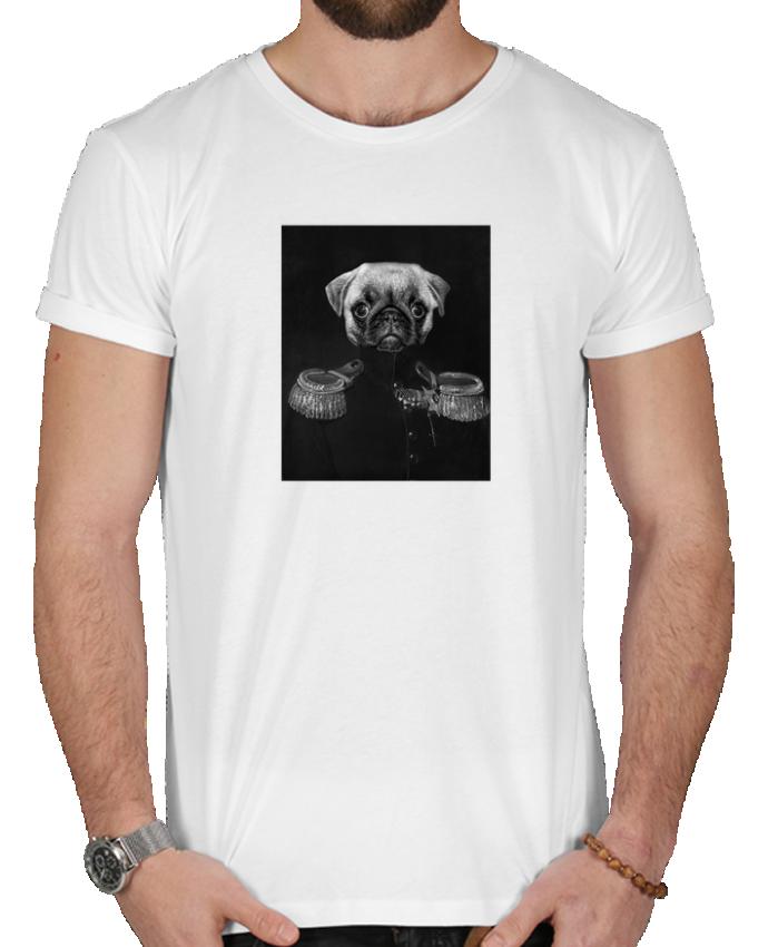 T-shirt  Homme 180g Chien soldat par Les Caprices de Filles