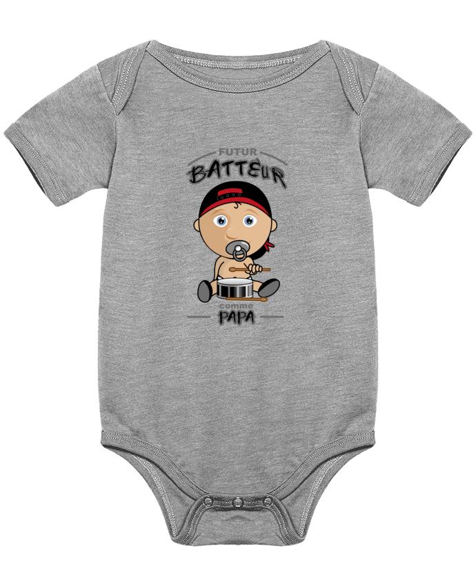 Body Bébé Futur batteur comme papa par GraphiCK-Kids