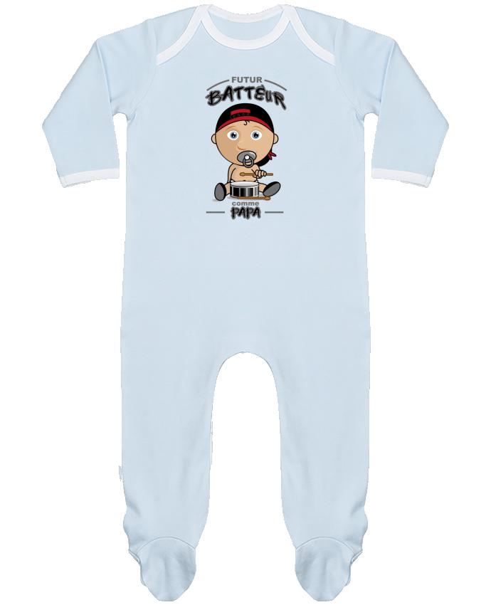 Pyjama Bébé Manches Longues Contrasté Futur batteur comme papa par GraphiCK-Kids