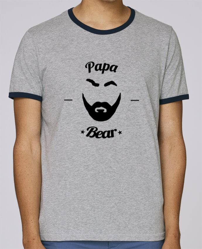 T-Shirt Ringer Contrasté Homme Stanley Holds Papa Bear pour femme par Ju Lie