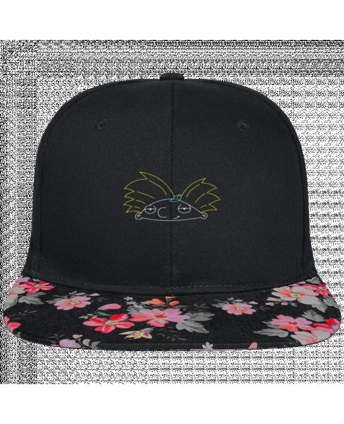 Casquette SnapBack Visière Graphique Noir Floral Arnold brodé brodé et visière à motifs 100% polyester et toile coton