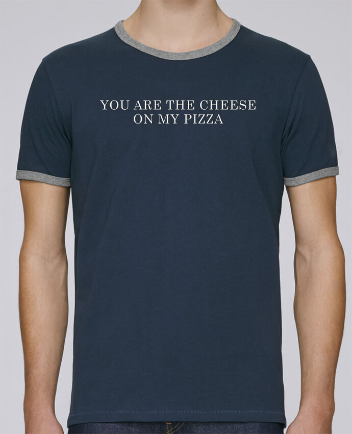 T-Shirt Ringer Contrasté Homme Stanley Holds Your are the cheese on my pizza pour femme par tunetoo