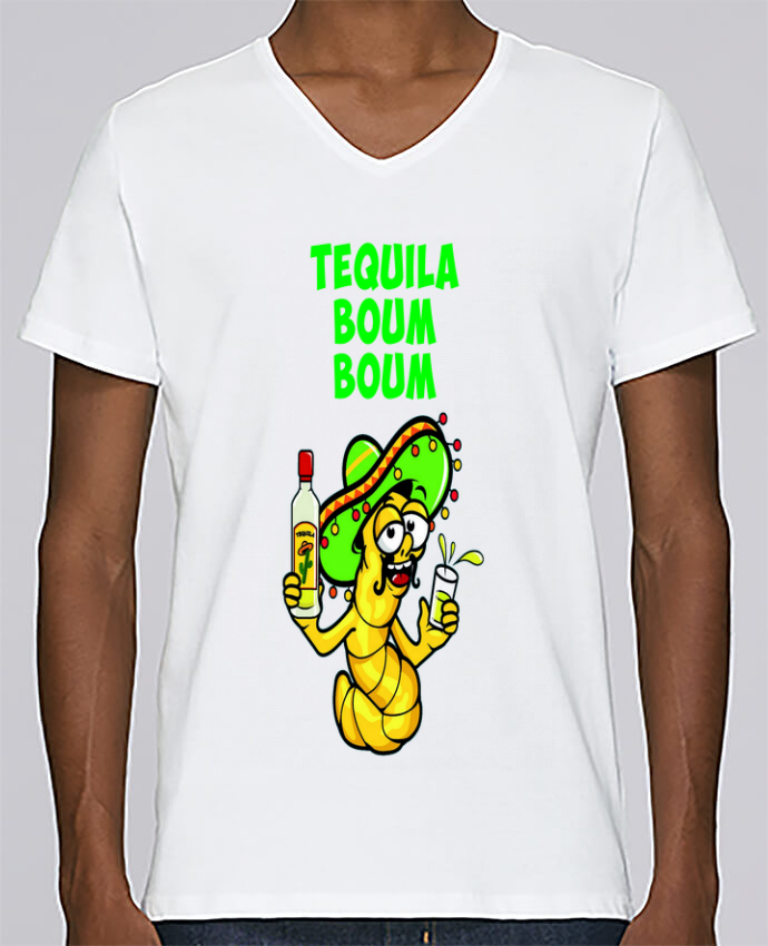T-shirt Col V Homme Stanley Relaxes Tequila boum boum par mollymolly