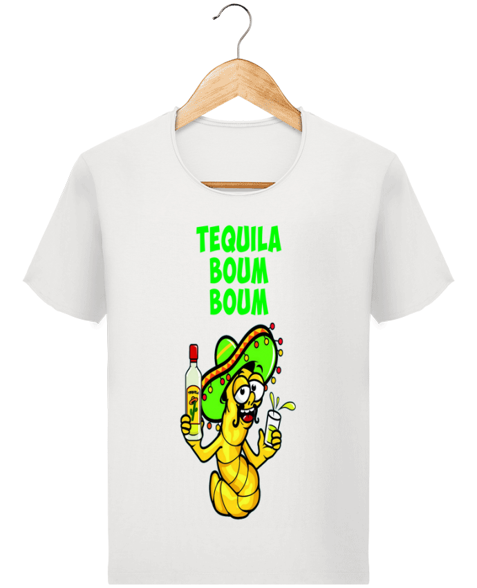 T-shirt Homme Stanley Imagines Vintage Tequila boum boum par mollymolly