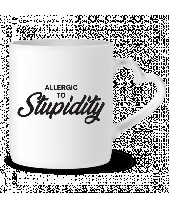 Mug Coeur Allergic to stupidity par tunetoo