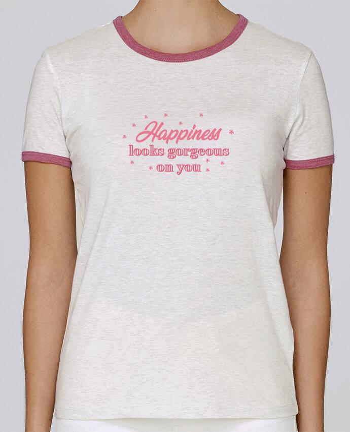 7a58c88fb T-shirt Femme Stella Returns Happiness looks gorgeous pour femme par tunetoo