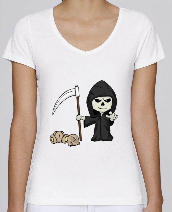 T-shirt Femme Col V Stella Chooses mini death par Fnoul