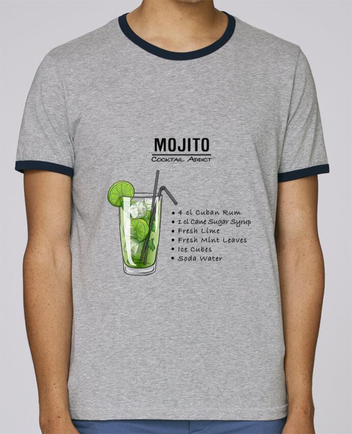 T-Shirt Ringer Contrasté Homme Stanley Holds Cocktail Mojito pour femme par Fnoul