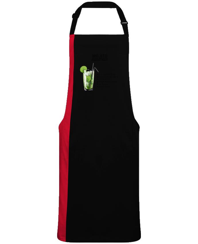 Tablier Long Bicolore Cocktail Mojito par  Fnoul