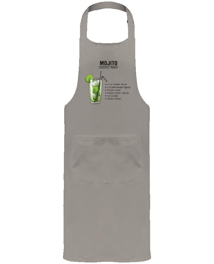 Tablier de Jardinier ou Sommelier avec Poche Cocktail Mojito par Fnoul
