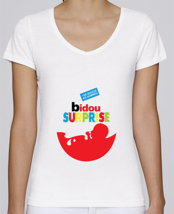 T-shirt Femme Col V Stella Chooses BIDOU SURPRISE par PTIT MYTHO