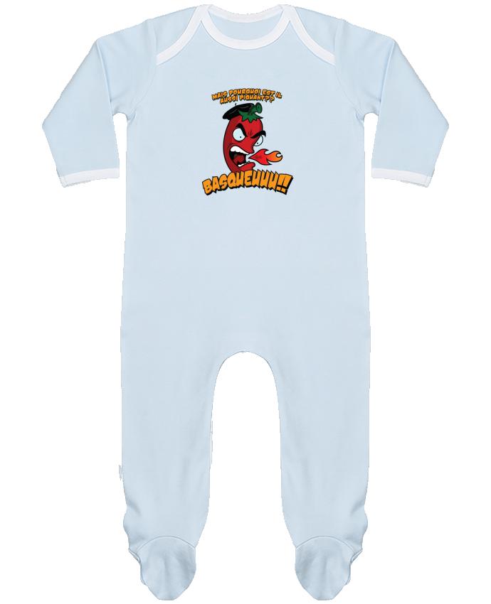 Pyjama Bébé Manches Longues Contrasté PIMENT BASQUE par PTIT MYTHO