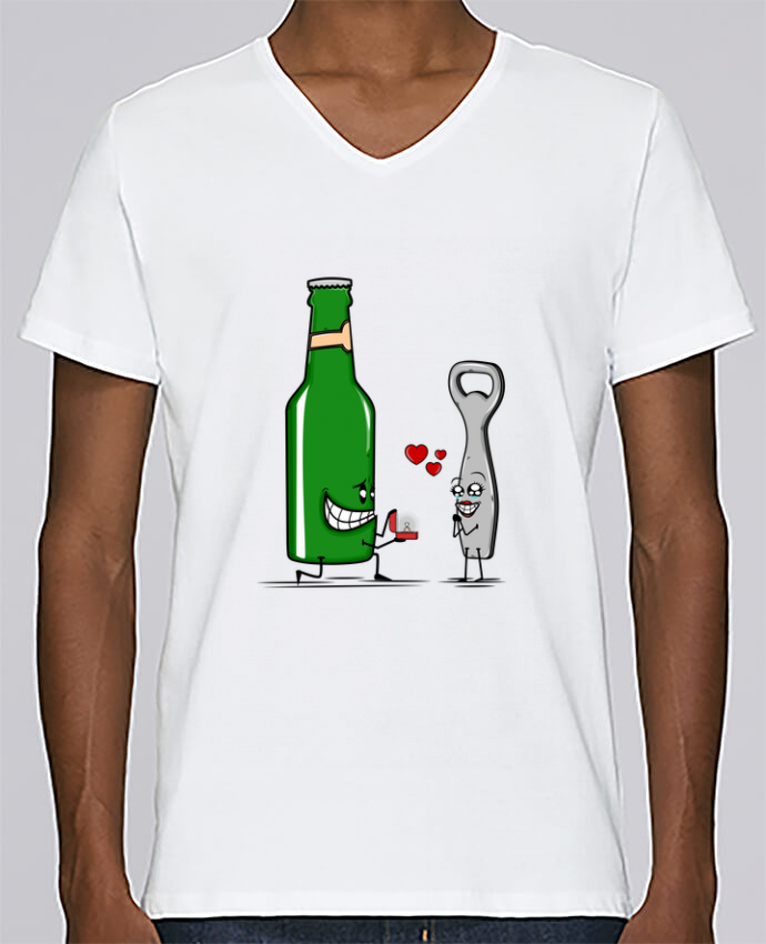 T-shirt Col V Homme Stanley Relaxes BEER ROMANCE par PTIT MYTHO
