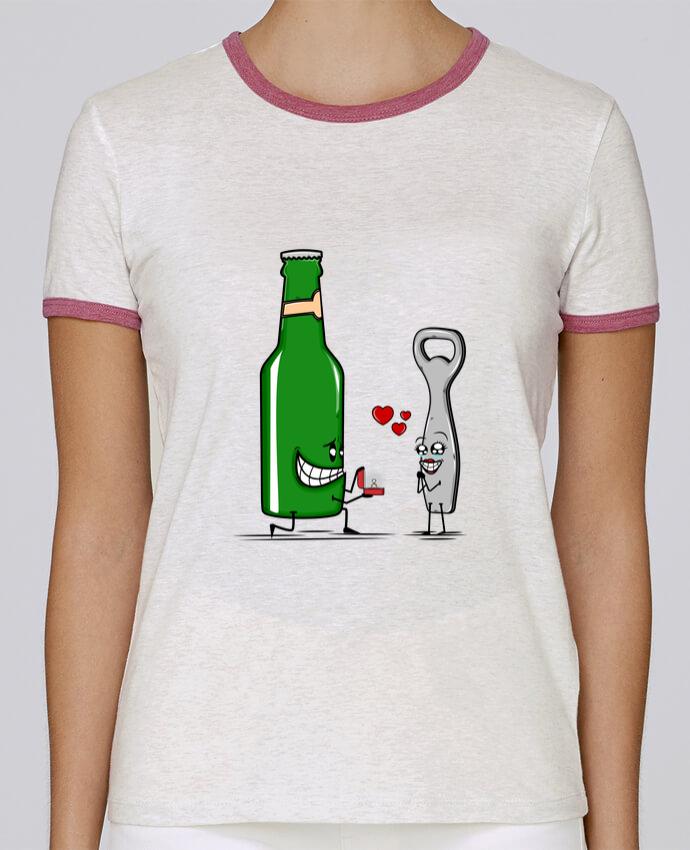 T-shirt Femme Stella Returns BEER ROMANCE pour femme par PTIT MYTHO