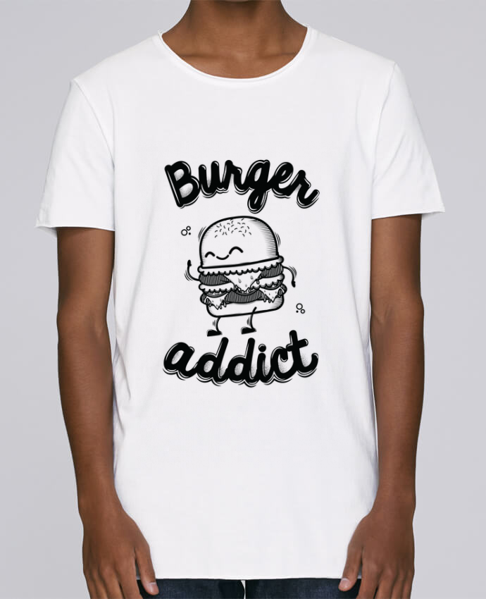 T-shirt Homme Oversized Stanley Skates BURGER ADDICT par PTIT MYTHO