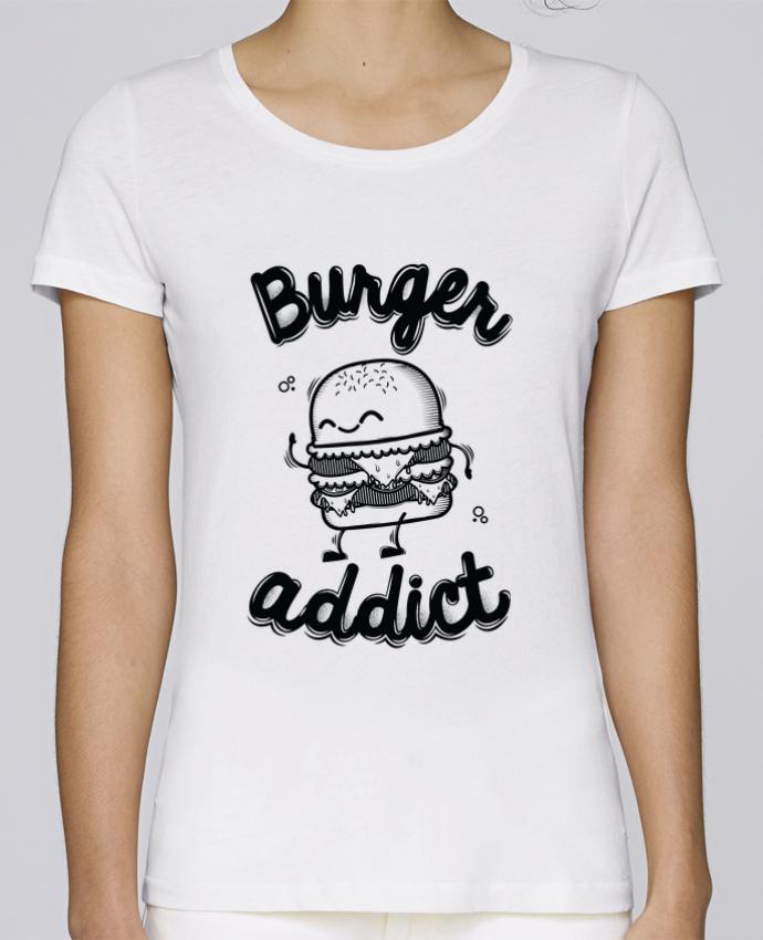 T-shirt Femme Stella Loves BURGER ADDICT par PTIT MYTHO