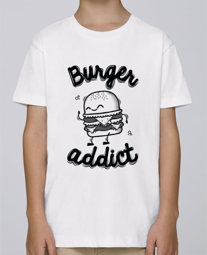 Tee Shirt Garçon Stanley Mini Paint BURGER ADDICT par PTIT MYTHO