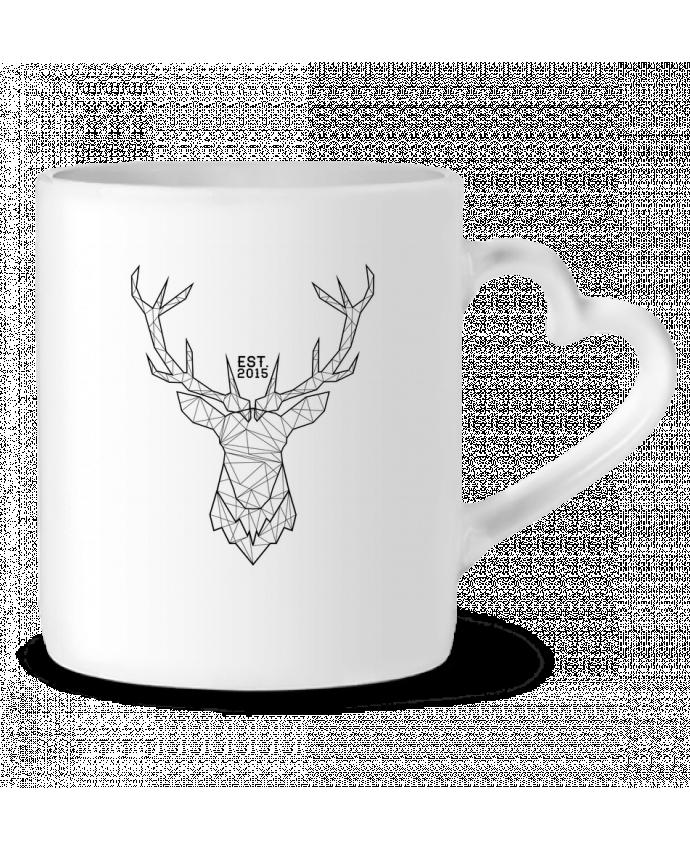 Mug Coeur CERF GRAPHIQUE par PTIT MYTHO