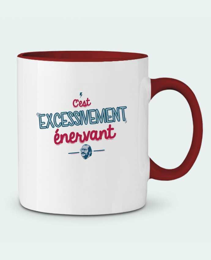 Mug en Céramique Bicolore C'EST  EXCESSIVEMENT ENERVANT PTIT MYTHO