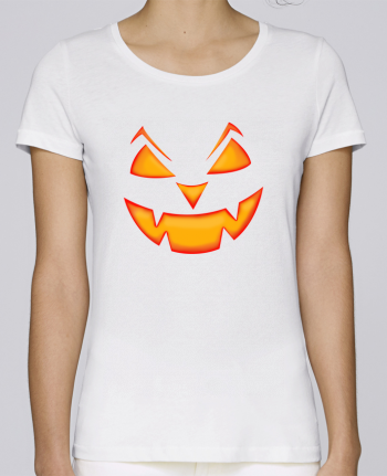 T-shirt Femme Stella Loves Halloween pumpkin face par tunetoo