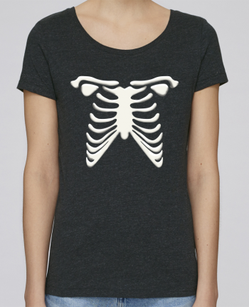 T-shirt Femme Stella Loves Halloween skeleton par tunetoo
