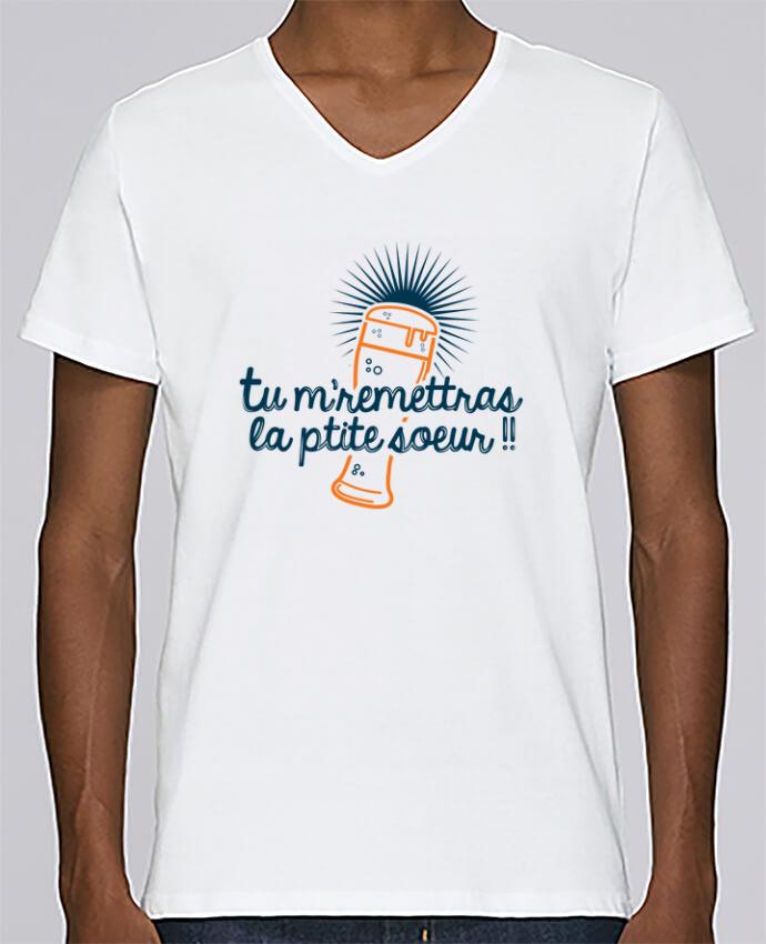 T-shirt Col V Homme Stanley Relaxes La ptite soeur par PTIT MYTHO