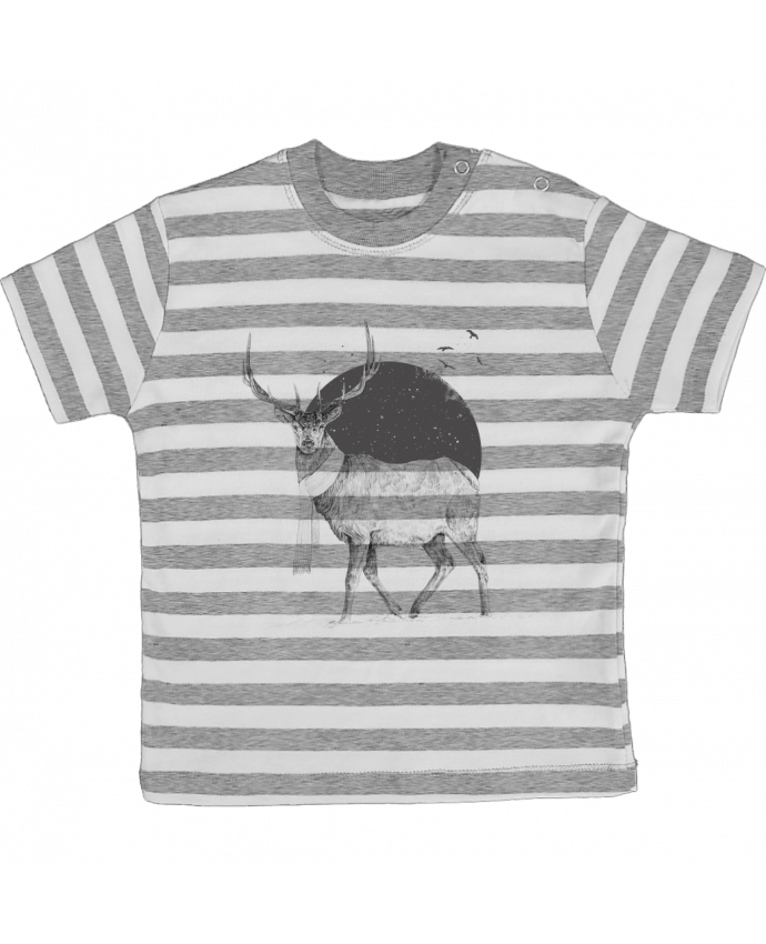 T-shirt Bébé à Rayures Winter is all around par Balàzs Solti