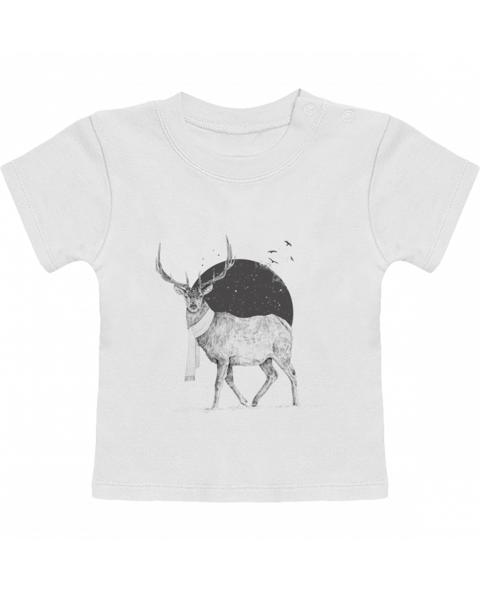 T-Shirt Bébé Manches Courtes Winter is all around manches courtes du designer Balàzs Solti