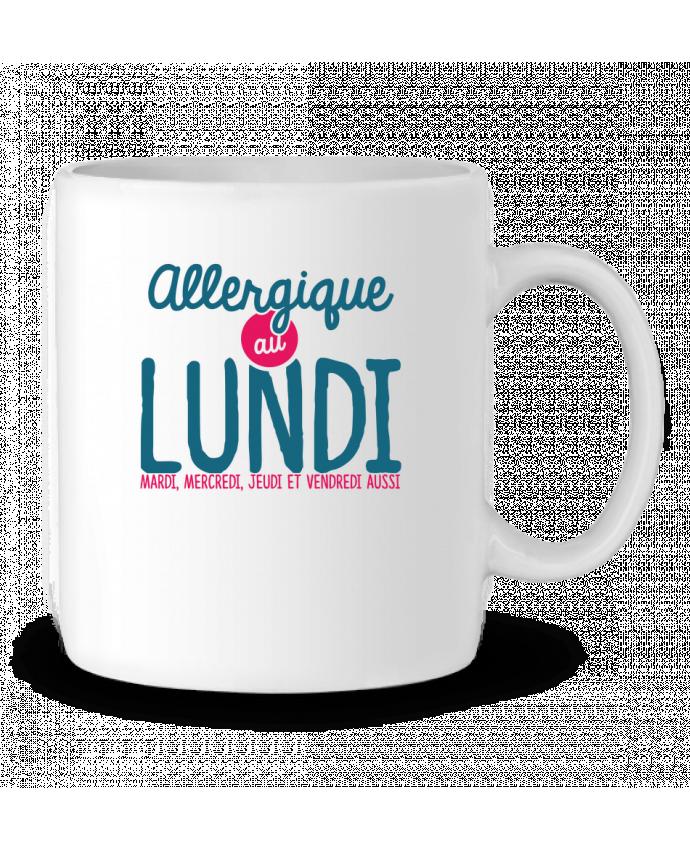 Mug en Céramique ALLERGIQUE AU LUNDI ... MAIS PAS QUE par PTIT MYTHO