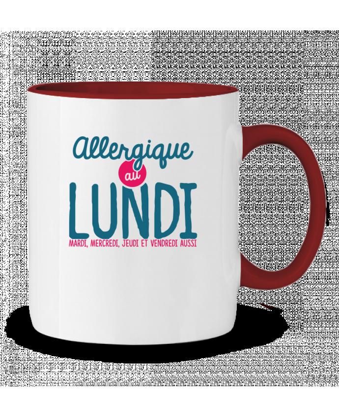 Mug en Céramique Bicolore ALLERGIQUE AU LUNDI ... MAIS PAS QUE PTIT MYTHO
