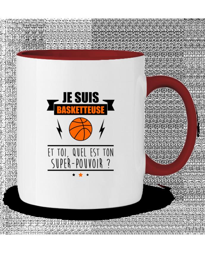 Mug en Céramique Bicolore Je suis basketteuse et toi, quel est ton super-pouvoir ? Benichan