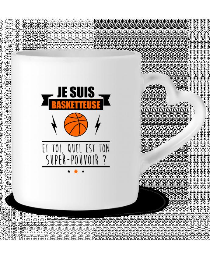 Mug Coeur Je suis basketteuse et toi, quel est ton super-pouvoir ? par Benichan