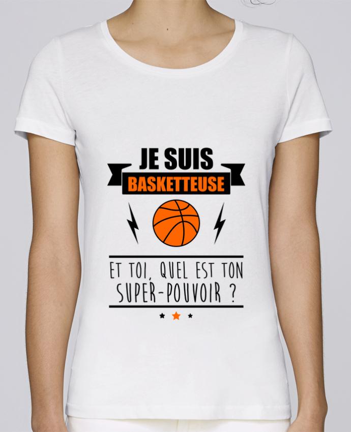 T-shirt Femme Stella Loves Je suis basketteuse et toi, quel est ton super-pouvoir ? par Benichan